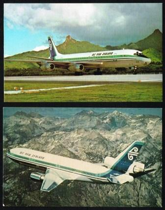 Image for Air New Zealand; Lot of Two Aircraft Postcards
