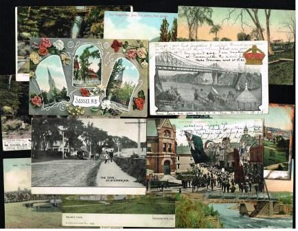 Image for Antique Postcards from New Brunswick: Lot of 12 Different