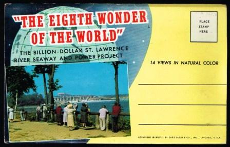 Image for 'The Eighth Wonder of the World'; The Billion Dollar St. Lawrence River Seaway and Power Project; Expanding, Postcard View-Booklet