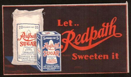 Image for Advertising Cover for Redpath Sugar