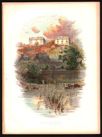 Image for Nottingham Castle: Color Lithograph Print