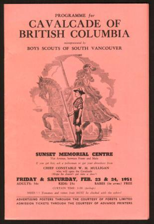 Image for Programme for Cavalcade of British Columbia...1951