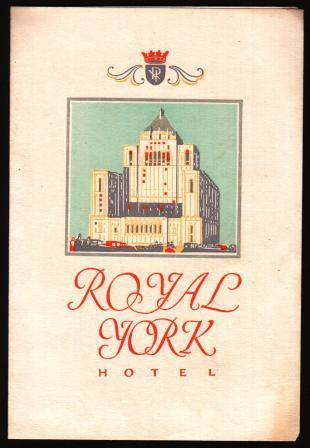 Image for Concert Program for a Recital at the Royal York Hotel, Toronto, 1929