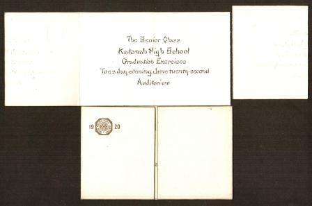 Image for Invitation to Graduation Exercises: Katonah High School, New York State