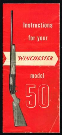 Image for Instructions for Your Winchester Model 50 Shotgun