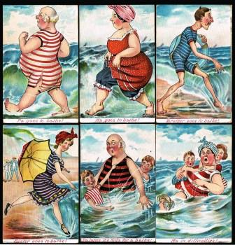Image for Family Bathers; Set of Six Comic PostcardsS