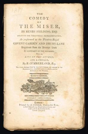 Image for The Comedy of the Miser