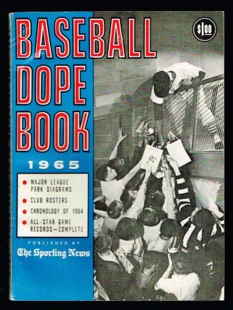 Image for Baseball Dope Book 1965 Edition