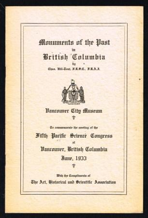Image for Monuments of the Past in British Columbia