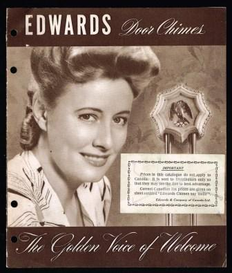 Image for Edwards Door Chimes; The Golden Voice of Welcome; 1941