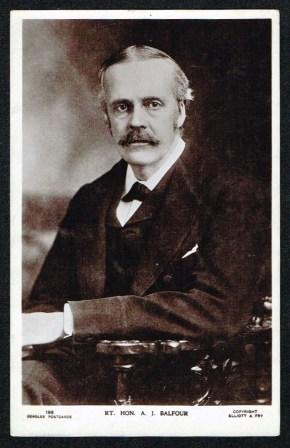 Image for Rt. Hon. A. J. Balfour; Antique Postcard
