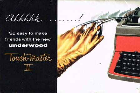 Image for Underwood Touch-Master II Standard Typewriter