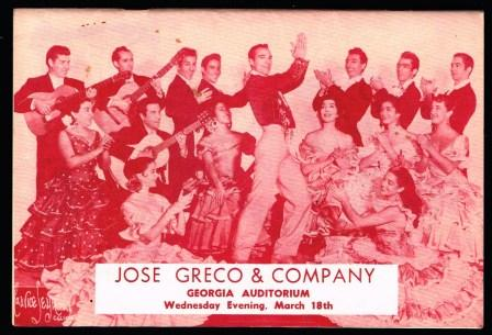 Image for Jose Greco and His Spanish Ballet, with Lola De Ronda and Jose Molina: Program, 1959