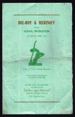 Image for Del-Roy & Merinoff 1932 Vodvil Production;  Program