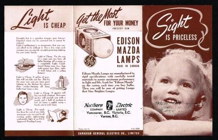 Image for Edison Mazda Lamps Sales Brochure, 'Sight is Priceless' [1941]