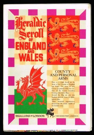 Image for HERALDIC SCROLL OF ENGLAND & WALES. A decorative Scroll of County and English and Welsh personal Arms. The Arms of each County are painted within the confines of the County boundary forming a decorative map.