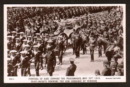 Image for Funeral of King Edward the Peacemaker, May 20th 1910: Blue-Jackets Drawing the Gun Carriage at Windsor