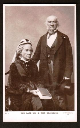 Image for The Late Mr. & Mrs. Gladstone; Real Photo Postcard