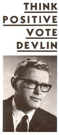 Image for Think Positive Vote Devlin: 1968 National Election