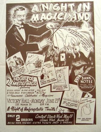 Image for Vancouver Magician's Poster, c1954