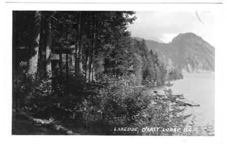 Image for Real Photo Postacard: Lakeside, D'Arcy Lodge, BC