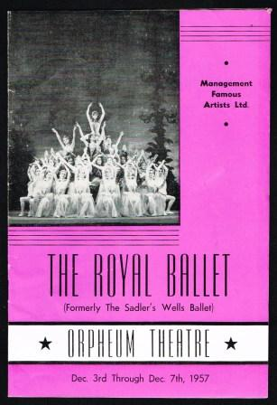 Image for The Royal Ballet [Formerly The Sadler's Wells Ballet]; Program, Vancouver, 1957