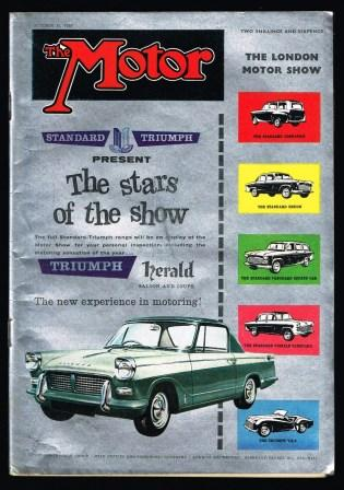 Image for The Motor, The National Motor Journal: October 21, 1959 - The London Motor Show Issue