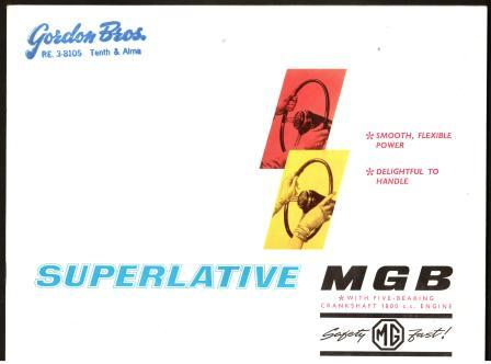 Image for Superlative MGB: 1964 Automobile Literature