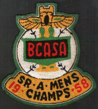 Image for Cloth Patch dated 1958 for Softball Champions of the BCASA