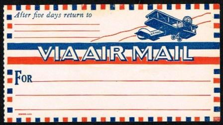 Image for Air Mail Label-Sticker, 1920s
