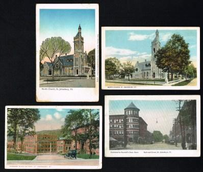 "Image for St. Johnsbury, Vermont:"" Lot of Four Antique Postcards c1910-20"