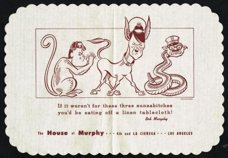 Image for The House of Murphy Propaganda Placemat , C1943