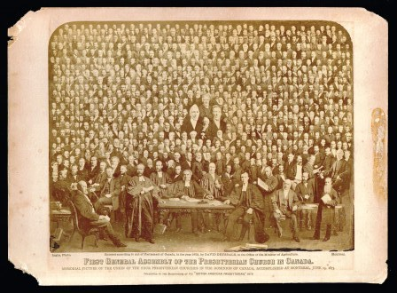 Image for First General Assembly of the Presbyterian Church in Canada: Memorial Picture of the Union of the Four Presbyterian Churches in the Dominion of Canada, Accomplished at Montreal, June 15, 1875