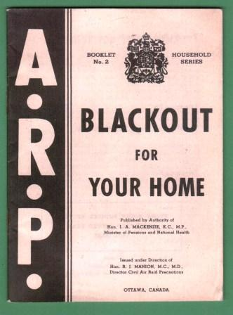 Image for Blackout for Your Home: Booklet 2, Household Series, ARP